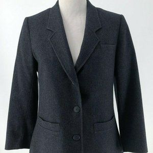 Pendleton Ladies Dark Grey 100% Wool Blazer